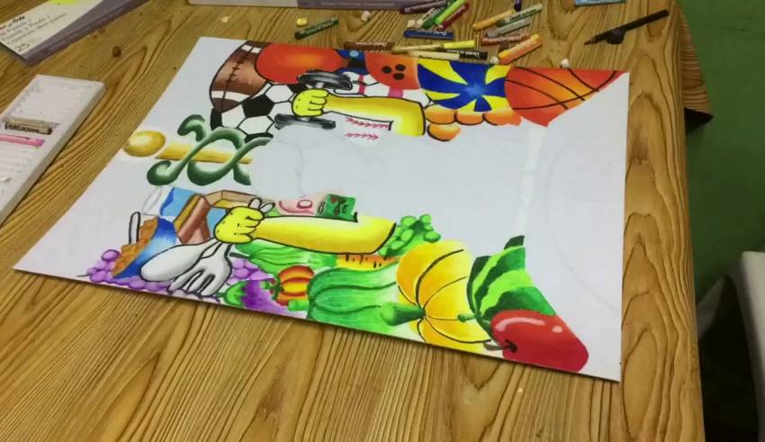 poster making nutrition month 2019