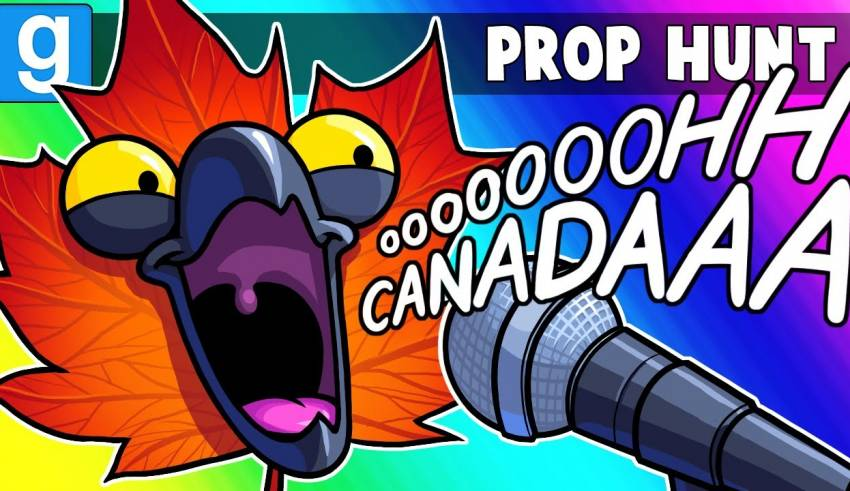 Gmod Prop Hunt Funny Moments - Canada Day VS Independence