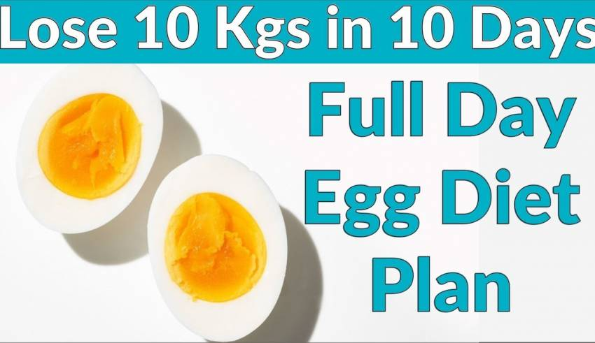 How To Lose Weight Fast 10kg In 10 Days Egg Diet Plan Full Day